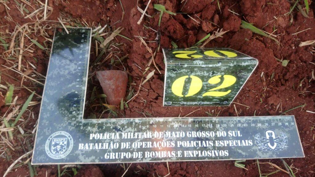 Bope detona artefato explosivo de guerra achado em Sidrolândia
