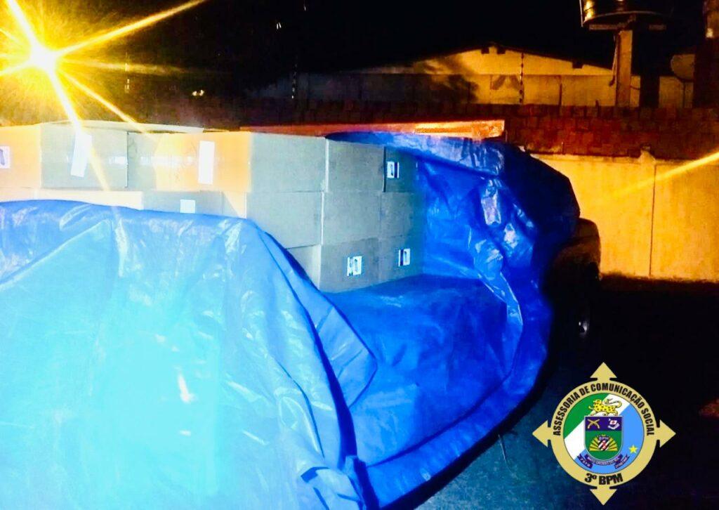 Policia Militar apreende carga de cigarro avaliada em R$160 mil em Itaporã