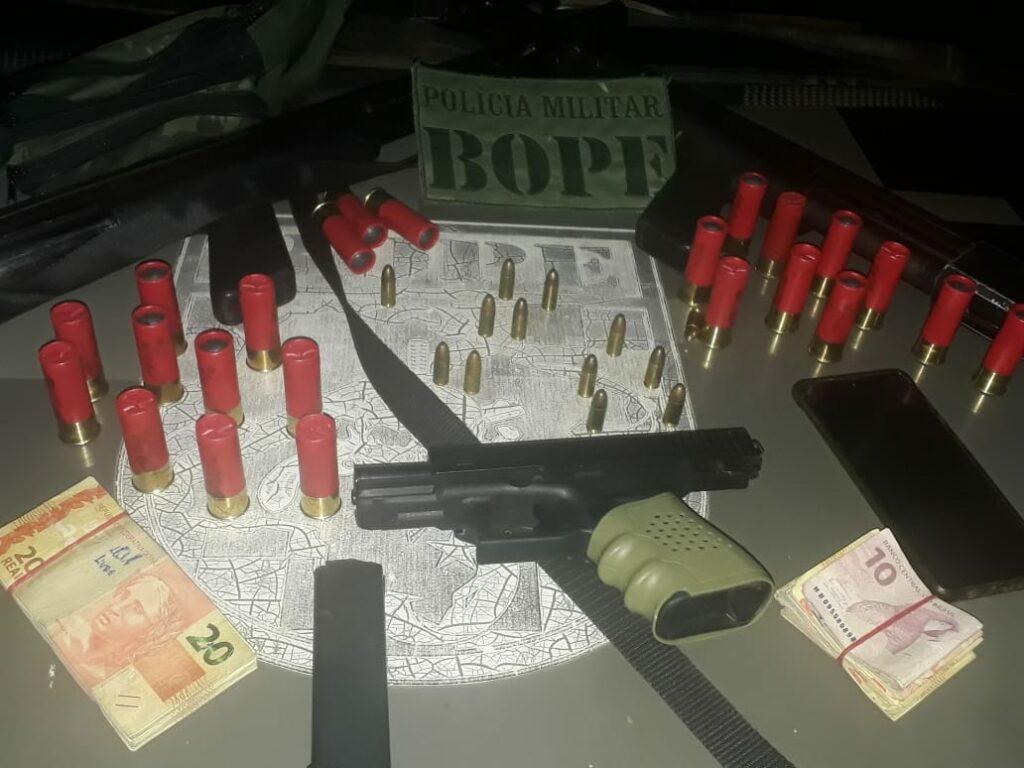 Bope prende casal escondido em envolvido com roubo a uma empresa na fronteira