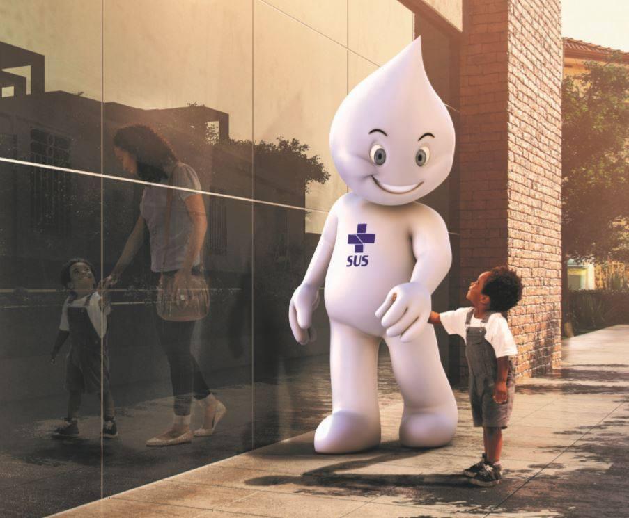 """Rotary Club de Campo Grande ilumina sede da Fiems com a campanha """"End Polio Now"""""""