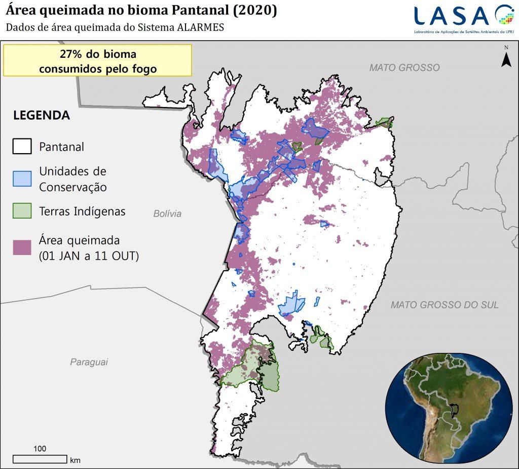 Fogo destruiu 27% do Pantanal entre janeiro e outubro, aponta monitoramento da UFRJ