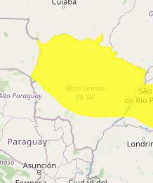 Inmet alerta para baixa umidade para 53 municípios de Mato Grosso do Sul