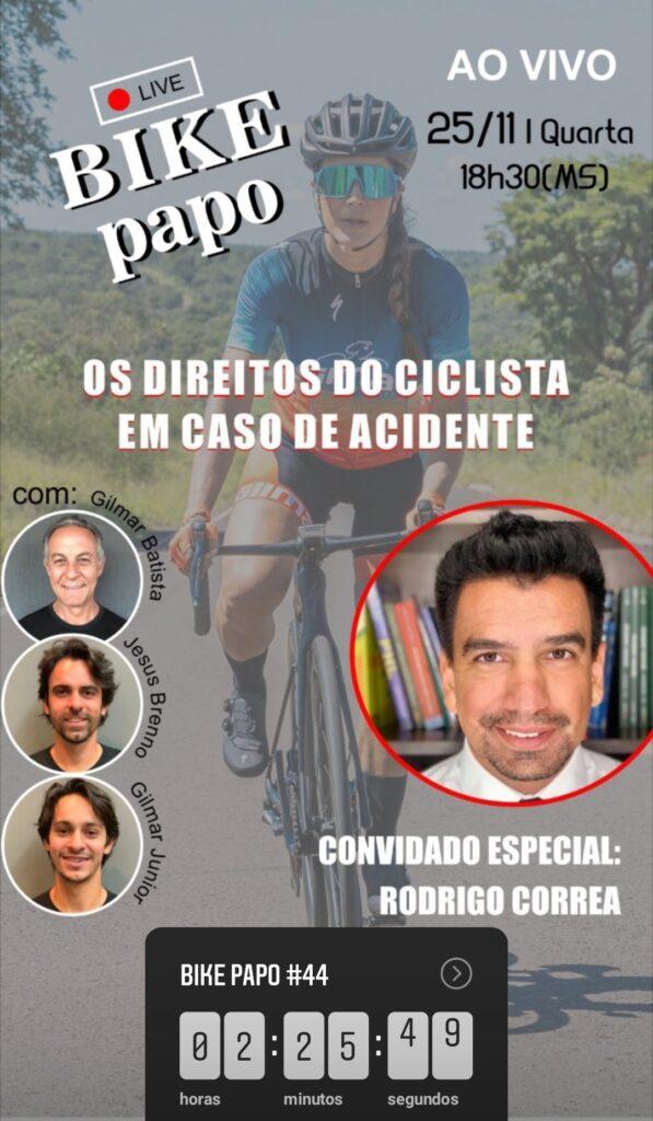 Live 'Bike Papo' vai falar sobre o direito dos ciclistas no trânsito