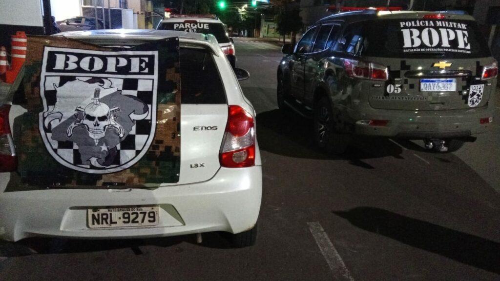 PM recupera veículo furtado do Imasul que estava sendo usado para cometimento de roubos