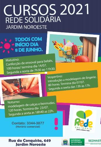 Com foco na geração de renda, Rede Solidária promove cursos de qualificação