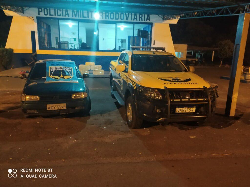Polícia Militar Rodoviária apreende mais de 100 Kg de maconha escondido em porta-malas