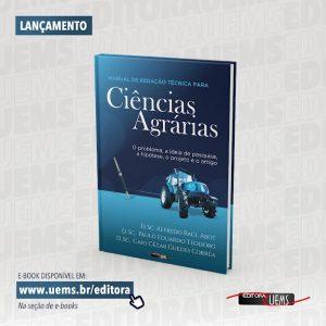 Editora UEMS lança 'Manual de redação técnica para ciências agrárias'