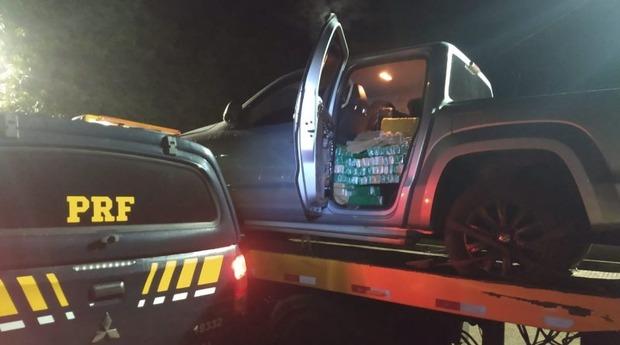 Homem abandona carro com mais de 1 tonelada de maconha e 800 munições