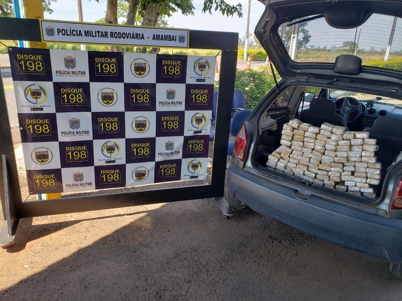 Traficante é preso no MS levando droga para Florianópolis (SC)