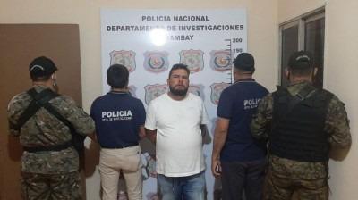 Cachorrão foi preso em bairro de Pedro Juan.Caballero. Gilberto Ruiz Díaz