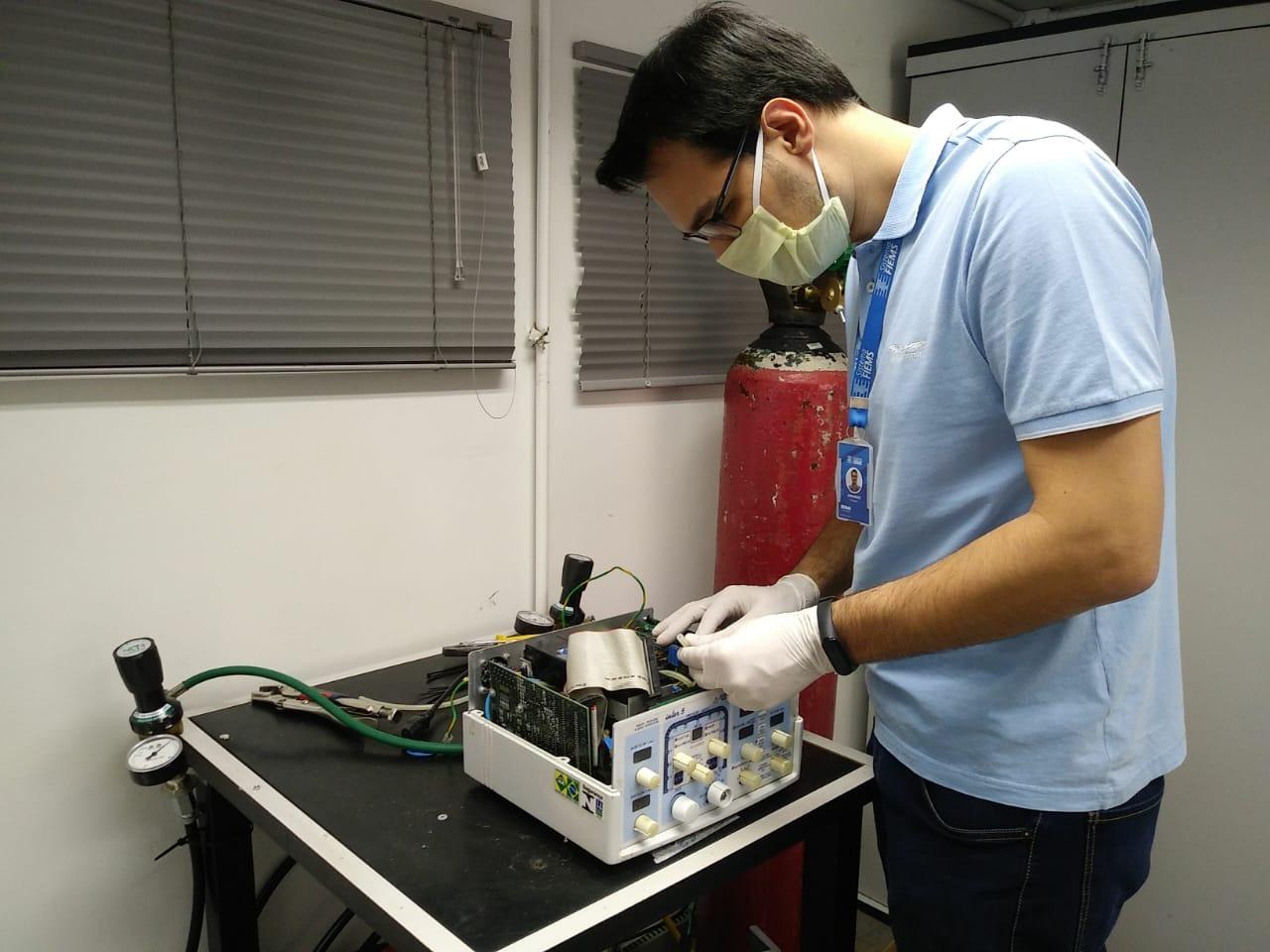 Dourados recebe ventiladores pulmonares consertados nesta sexta-feira