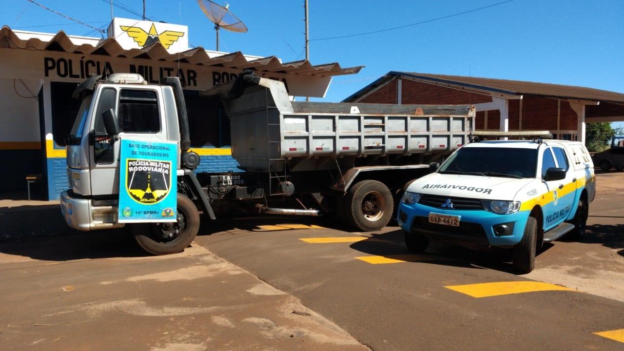 Polícia recupera em Dourados caminhão furtado na fronteira
