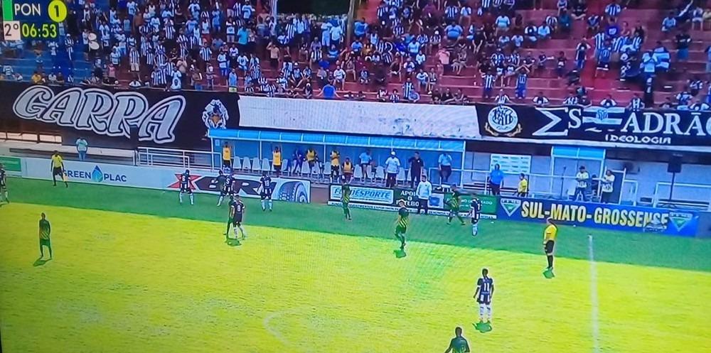 Partida realizada no estádio do Morenão  —  TV Morena/Reprodução