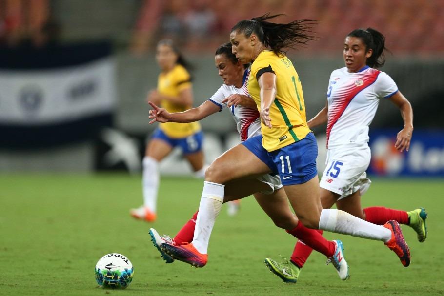 Brasil x Costa Rica Torneio Internacional Feminino. Lucas Figueiredo/CBF