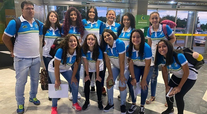 Equipe feminina de MS estreia Sub-18 de Voleibol